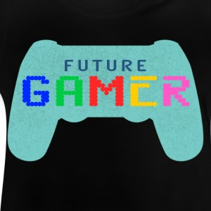 Blue future Gamer Design by Juiceman Benji Gaming - Maglietta per neonato