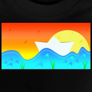 Paper ship in water - Baby T-Shirt