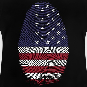 USA America Stars and Stripes vlag duim - Baby T-shirt