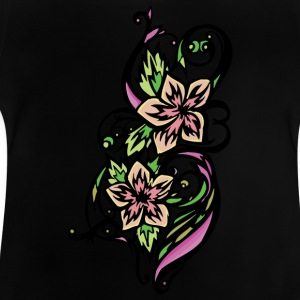 flor rosa 1light - Camiseta bebé