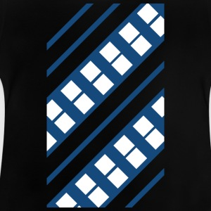 Blue White Pattern - Baby-T-shirt