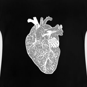 Coeur, X-ray, Zentangle - T-shirt Bébé
