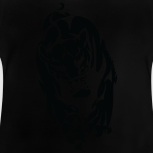 wild panther black 2 - Baby T-Shirt