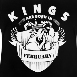Kings are born in February - Baby T-Shirt