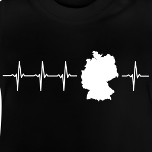 Germany, heartbeat design (I love Germany magnif) - Baby T-Shirt