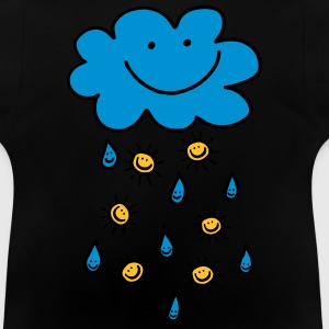Rain cloud, raindrop, sun, summer, spring, weather - Baby T-Shirt
