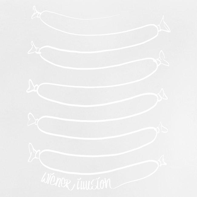 Wiener Illusion (weiß auf schwarz)