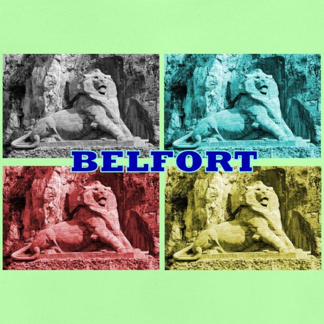 Lion de Belfort quadrichromie + nom