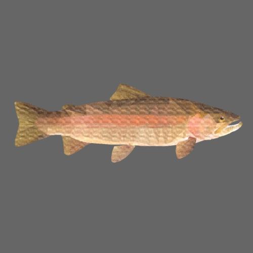 low-polygon-trout art.png - Vauvan t-paita