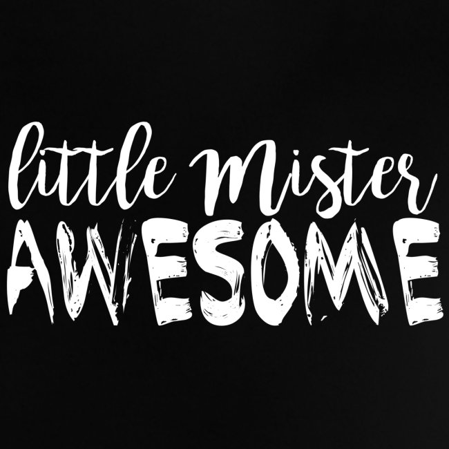 white on transparent little mister awesome png