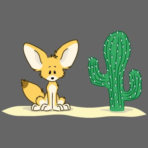 Fennek Baby mit Kaktus - Baby T-Shirt