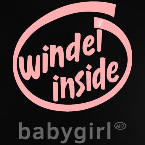 Windel inside Babygirl Shirt Mädchen-Version, ros - Baby T-Shirt