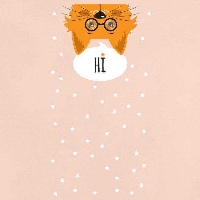 Katze sagt: HI
