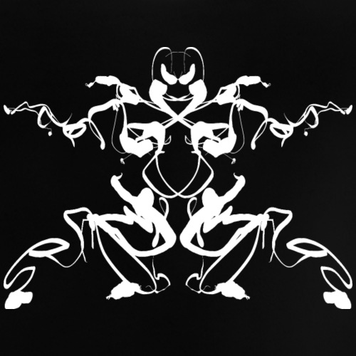 Rorschach test of a Shaolin figure Tigerstyle - Baby T-Shirt