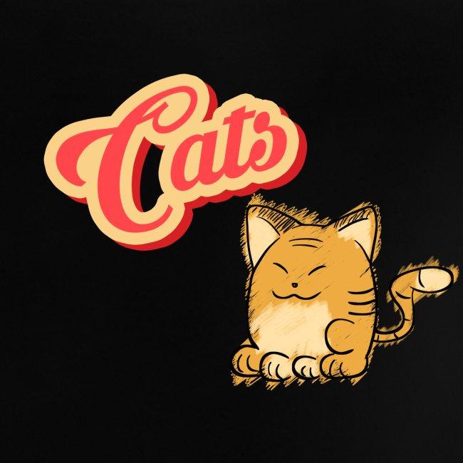 Katze   Katzen süß Schriftzug