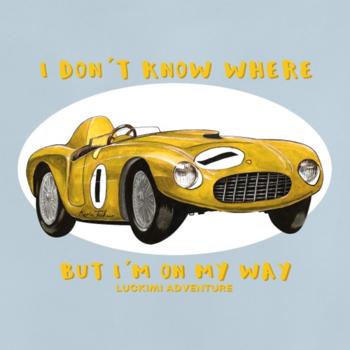 Happy Car Yellow - Kids - Baby T-Shirt