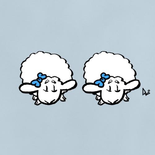 Baby Lamb Twins (niebieski i niebieski) - Koszulka niemowlęca