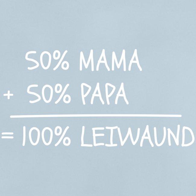 Vorschau: 100 Prozent leiwaund - Baby T-Shirt