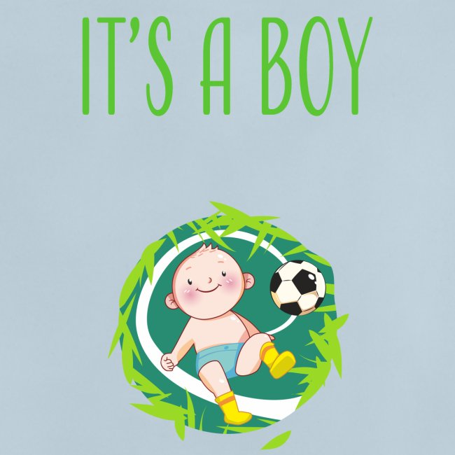 It's a Boy Fußball. Witzige Umstandsmode T-Shirt