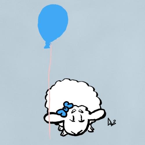Bébé agneau avec ballon (bleu) - T-shirt Bébé