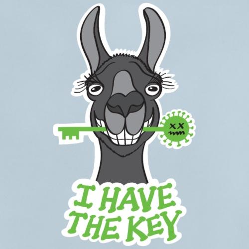 Le fier lama noir a la clé contre le coronavirus - Baby T-Shirt