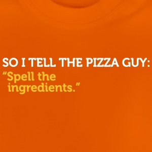 Jokes de service de livraison - Spell The Ingredients! - T-shirt Bébé