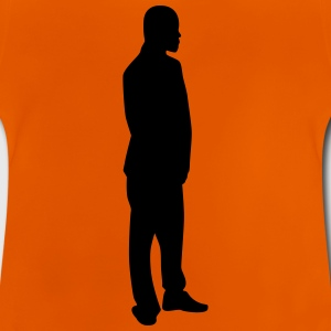 Man body Silhouette vector design - Baby T-Shirt
