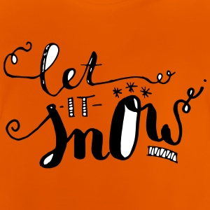 """Let it snow"" lettering - Baby T-Shirt"