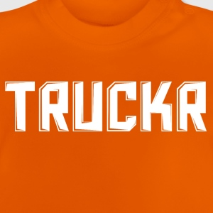 White print with no background TRUCKR - Baby T-Shirt
