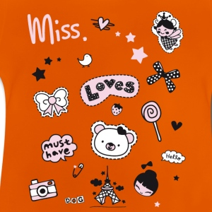 badges_rosa Aufnäher Girl Miss Little Princess her - Baby T-Shirt