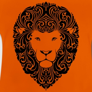 lion med ornament hår 2 sorte - Baby T-shirt