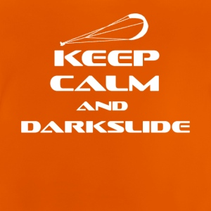 Kitesurfing - KEEP CALM AND DARK SLIDE - Baby-T-skjorte