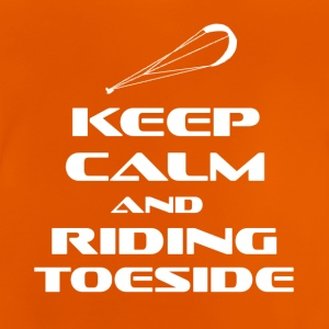 KITESURFING - KEEP CALM AND RIDING TOESIDE - Baby T-Shirt