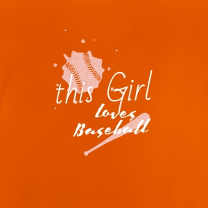 diese Frau liebt baseball this girl love baseball - Baby T-Shirt