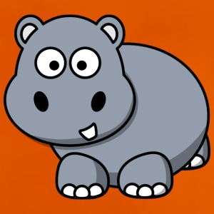 Hippo Happy Hippo comic style for children - Baby T-Shirt