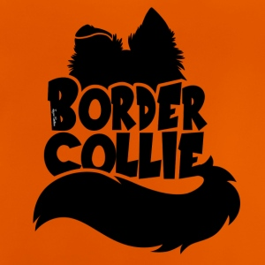 Silhouette Border Collie - Noir - T-shirt Bébé