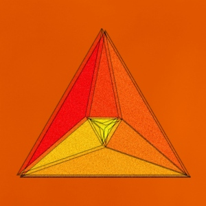 Enzoma - gradient in the triangle - Baby T-Shirt
