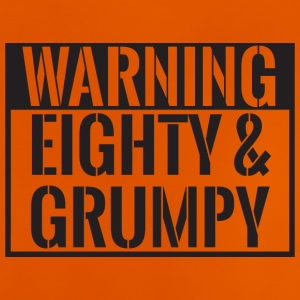 80. Geburtstag: Warning - Eighty & Grumpy - Baby T-Shirt