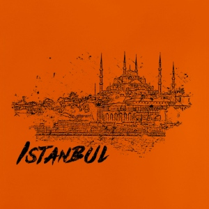 Istanbul - Cityscape skisse - Baby-T-skjorte