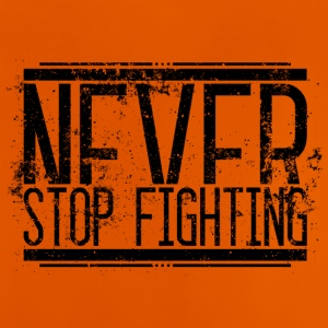 Never Stop Fighting Old 001 round ontwerpen - Baby T-shirt