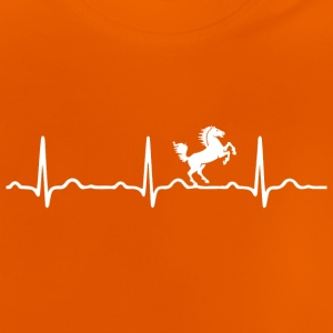 ECG HEARTBEAT HORSE wit - Baby T-shirt