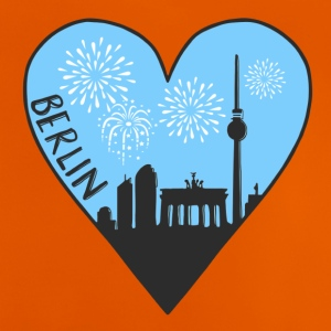 Berlin by night, heart, city, I love, Silhouette - Baby T-Shirt