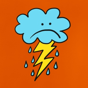 Angry Cloud, flash, regendruppel, weer, grappig, regen - Baby T-shirt