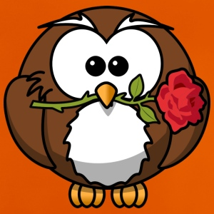 Owl with rose - Baby T-Shirt