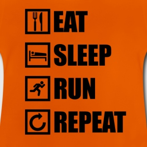 EAT SLEEP RUN REPEAT - Baby T-Shirt