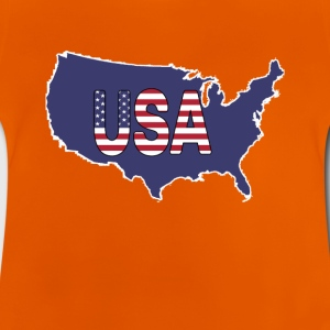 USA, United States of America blue map shape - Baby T-Shirt