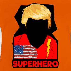 Super Donald / Orange Trump Tear-rivning - Baby-T-shirt
