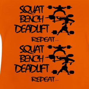 vie REPEAT Powerlifting - T-shirt Bébé