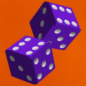 Purple Dice - Baby-T-shirt