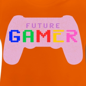 Rosa Framtida Gamer Design by Juiceman Benji Gaming - Baby-T-shirt